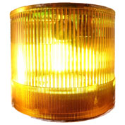 Springer Controls / Texelco LA-34-30 70mm Stack Light, Strobe, 240V AC/DC Xenon BULB - Yellow