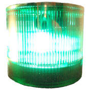 Springer Controls / Texelco LA-35-15 70mm Stack Light, Strobe, 120V AC/DC Xenon BULB - Green