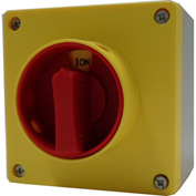 Springer Controls / MERZ ML0-32-AR3E, 32A,3-Pole, Enclosed Disconnect Switch, Red/Yellow