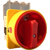 Springer Controls/MERZ ML1-025-AR3, 25A,3-Pole, Disconnect Switch, Red/Yellow, Front-Mount, Lockable