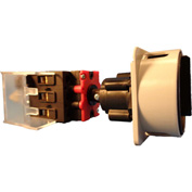 Springer Controls/MERZ ML1-025-DB3,25A,3-Pole,Disconnect Switch,Blk/Grey,Din-Mount,Coupling,Lockable