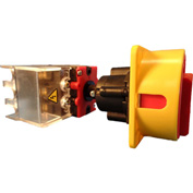 Springer Controls/MERZ ML2-080-DR3,80A,3-Pole,Disconnect Switch,Red/Yel,Din-Mount,Coupling,Lockable
