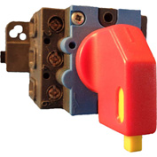 Springer Controls/MERZ ML2-080-PR2, 80A, 3-Pole, Disconnect Switch, Red/Yellow, Din-Mount, Lockout