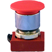 Springer Controls N5CET4GN222, Mushroom Head-3-Pos. Push Pull-Button Yellow, w/Contacts-Shown in Red