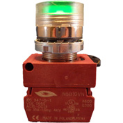 Springer Controls N5CPLVGD, Illuminated Push Button, Momentary, Flush - Green