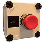 Springer Controls N5PEC102, Stop Push-Button Station - Momentary - Chrome