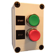 Springer Controls N5PEC201, Start-Stop Push-Button Station - Momentary - Chrome