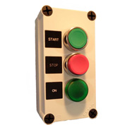 Springer Controls N5PEC304, Start-Stop-On Light Push-Button Station - Momentary - Chrome