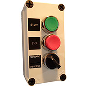 Springer Controls N5PEC305,Start-Stop-Selector PB Station-Momentary Buttons,Maint. Selector-Chrome