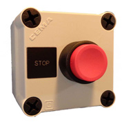 Springer Controls N5PEX102, Stop Push-Button Station - Momentary - Black