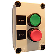 Springer Controls N5PEX201, Start-Stop Push-Button Station - Momentary - Black