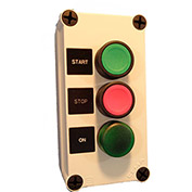Springer Controls N5PEX304, Start-Stop Push-Button Station w/ Green Light, Momentary,Black