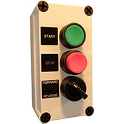 Springer Controls N5PEX305,Start-Stop-Selector PB Station-Momentary Buttons,Maintained Selector-Blk