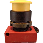 Springer Controls N5XEM3GN, Mushroom Head - Momentary  Push-Button Yellow