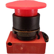 Springer Controls N5XER4RN01, Mushroom Head-Push-Button with Latch Red, w/ Contact
