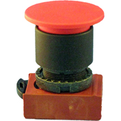Springer Controls N5XET4NN222, Mushroom Head-3-Pos. Push Pull-Button Black,w/Contacts-Shown in Red