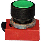 Springer Controls N5XPNLG, Standard - Momentary  Push-Button Blue - Shown in Green