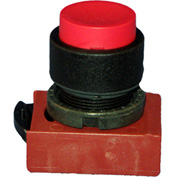 Springer Controls N5XPNNS, Extended - Momentary  Push-Button Black - Shown in Red