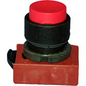 Springer Controls N5XPNNS10, Extended-Momentary Push-Button Black, w/ Contact- Shown in Red