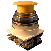 Springer Controls N7ET3G10, 30 mm Mushroom-Head, 1 Normally Open, Push-Pull Maintained, Yellow