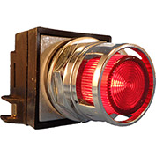 Springer Controls N7PLMRD00-12, 30mm Illum. Push-Button, Guarded, Momentary, 12V, No Contacts, Red