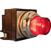 Springer Controls N7PLSRD00-12, 30mm Illum. Push-Button, Extended, Momentary, 12V, No Contacts, Red