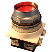 Springer Controls N7PNER10, 30 mm Recessed Push Button, 1 Normally Open, Momentary, Red