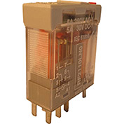 RelayGo RF2110LN024,Interface Relay w/LED & Gold Plated Contacts,5A Switch,24VAC,DPDT,9-Blade