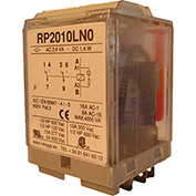 RelayGo RP2010LN0230, Power Relay w/ LED, 16A Switch, 230V AC, DPDT, 11-Blade