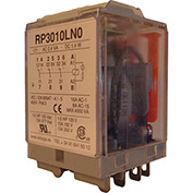 RelayGo RP3010LH0, Multi-Voltage Power Relay w/LED, 16A Switch, 12-250V AC/DC, 3PDT, 11-Blade