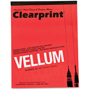 "ClearPrint Vellum Pad 8.50"" x 11"" White 50 Sheets/Pad"