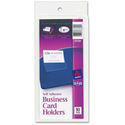 Avery® Self-Adhesive Business Card Holder, Clear - Pkg Qty 10