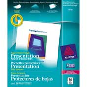 "Avery® Diamond Clear Top Loading Sheet Protector, Super Heavy Weight, 8-1/2""W x 11""H, 50/PK"