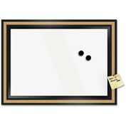 "The Board Dudes Dry Erase Magnetic Cork Combination Board with Black Frame, 18""W x 22""H"