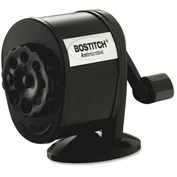 "Bostitch® Manual Pencil Sharpener, 8-Hole, 2-1/2""x5-1/2""x4-1/4"", Black"