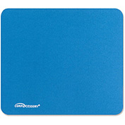 Compucessory 23605 Economy Mouse Pad, Non-Skid Rubber Base, Blue