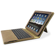 "Compucessory IPad Portfolio Case, w/Keyboard, 8-2/5""x10-1/4""x1-1/5"", Tan"