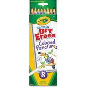 Crayola Colored Pencil, Red, Orange, Yellow, Green, Blue, Violet, Brown, Black Lead, 8/Box
