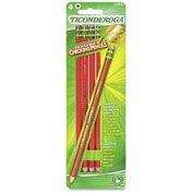 Ticonderoga Erasable Checking Pencil, Red Lead, Red Barrel, 4/Pk