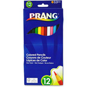 Prang Colored Pencils, Assorted Lead, Assorted Barrel, 12/Set