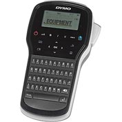 "Dymo® Label Maker, 1815990, 3 Fonts, 4-1/2"" X 2-3/8"" X 8"", Black/Silver"