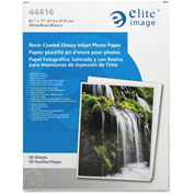 "Elite Image Glossy White Photo Paper 8-1/2""  x 11"" 10.6 Mil 50 Pack"
