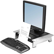 Fellowes® 8036601 Office Suites Standard Monitor Riser Plus, Black/Silver