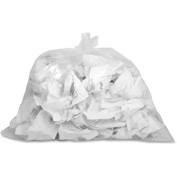 "Genuine Joe Trash Can Liner, 7-10 Gallon, 0.60 Mil, 24""x23"", Clear,  500/Pk, GJO01010"
