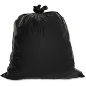 Genuine Joe Heavy-Duty Trash Bags, 1.50 Mil, 31-33 Gallon, Black, 100/Pk, GJO01533