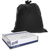 Genuine Joe Heavy-Duty Trash Bags, 1.50 Mil, 55-60 Gallon, Black, 50/Case, GJO01535
