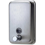 Genuine Joe Stainless Steel Manual Soap Dispenser 932mL, Liquid/Foam - GJO02201