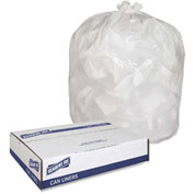 "Genuine Joe Heavy-Duty Trash Bags, 0.80 Mil, 13 Gallon, 24""x31"",White, 150/Pk, GJO02312"