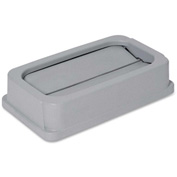 Genuine Joe Lid For 23 Gallon Wall Hugger Receptacle, Gray - GJO02343