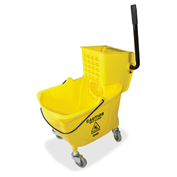 Genuine Joe Mop Bucket/Wringer Combo, 32 Oz. Wringer Capacity, Yellow - GJO02347